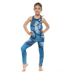 Детски Комплект Клин / Топ EX FIT Kids Sport Kit Blue Butterfly