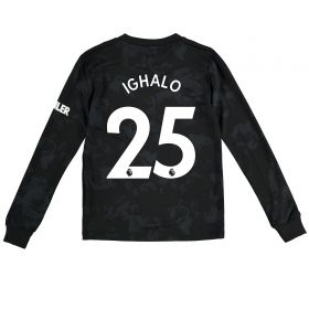 Manchester United Third Shirt 2019 - 20 - Kids - Long Sleeve with Ighalo 25 printing