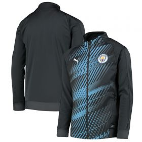 Manchester City Stadium League Jacket - Dk Grey - Kids