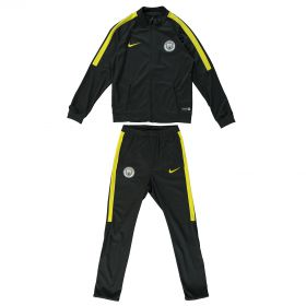Manchester City Squad Tracksuit - Dk Grey - Kids