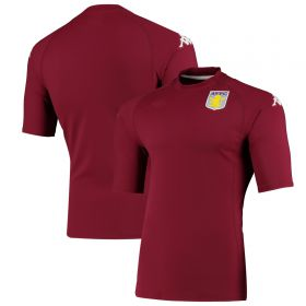 Aston Villa Kappa Active Jersey - Claret - Mens
