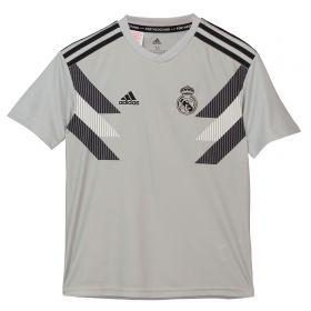 Real Madrid Pre Match Shirt - Grey - Kids
