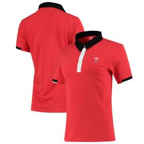 Welsh Rugby Iconic Rugby Polo Shirt - Red - Womens