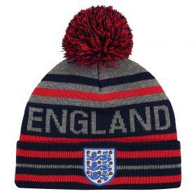 England Striped Wordmark Knit - Navy - Junior