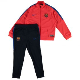Barcelona Squad Knit Tracksuit - Red - Little Kids