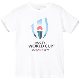 Rugby World Cup 2019 Large Logo T-Shirt - White - Junior