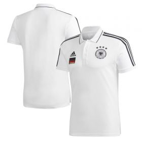 Germany 3 Stripe Polo - White