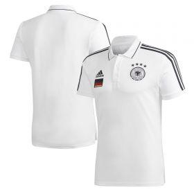 Germany 3 Stripe Polo - White