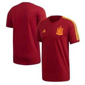 Spain 3 Stripe T-Shirt - Red