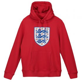 England Large Printed Crest Hoodie - G Red - Kids