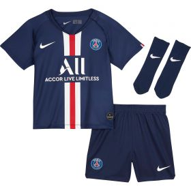 Paris Saint-Germain Home Stadium Kit 2019-20 - Infants with Mbappé 7 printing