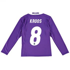 Real Madrid Away Jersey 2016/17 - Kids - Long sleeve - with Kroos 6 printing