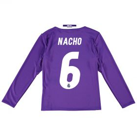 Real Madrid Away Jersey 2016/17 - Kids - Long sleeve - with Nacho 6 printing