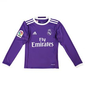Real Madrid Away Shirt 2016-17 - Kids - Long Sleeve with Campeones 33 printing