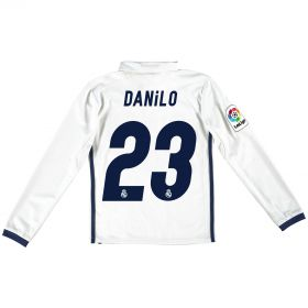 Real Madrid Home Jersey 2016/17 - Kids - Long sleeve - with Danilo 23 printing