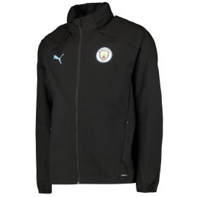 Manchester City Training Rain Jacket - Black