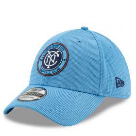 New York City FC New Era Mesh 39THIRTY Stretch Fit Cap - Blue