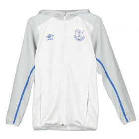 Everton Hooded Jacket - White - Kids