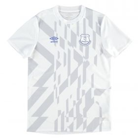 Everton Warm Up Top - White - Kids