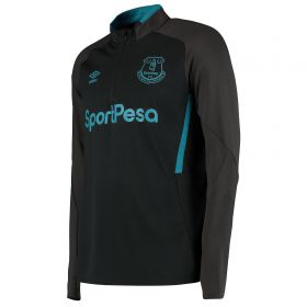 Everton Training Half Zip Sweatshirt - Black