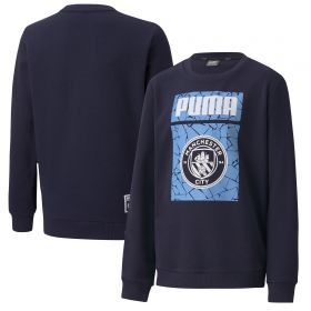 Manchester City ftblCore Graphic Sweat Top - Navy - Kids
