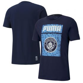 Manchester City ftblCore Graphic T-Shirt - Navy