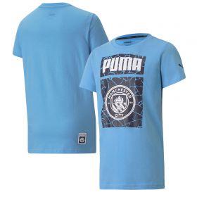 Manchester City ftblCore Graphic T-Shirt - Sky Blue - Kids