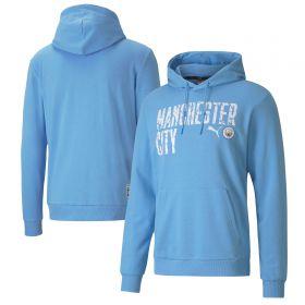 Manchester City ftblCore Wording Hoodie - Sky Blue