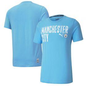 Manchester City ftblCore Wording T-Shirt - Sky Blue