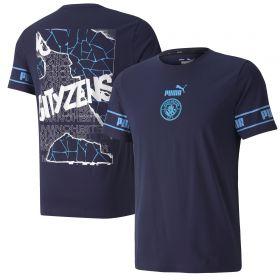 Manchester City ftblCulture T-Shirt - Navy