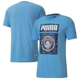 Manchester City ftblCore Graphic T-Shirt - Sky Blue