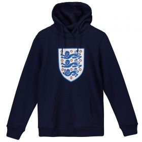 England Large Printed Crest Hoodie - Navy - Kids
