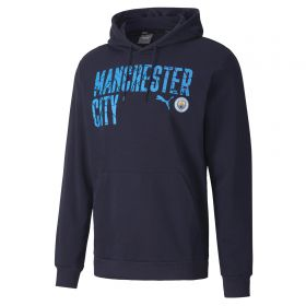 Manchester City ftblCore Wording Hoodie - Navy