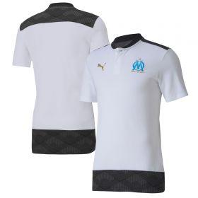 Olympique de Marseille Casuals Polo - White