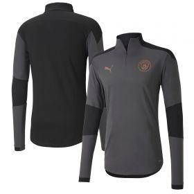 Manchester City 1/4 Zip Top - Dark Grey