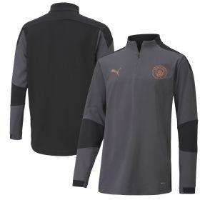 Manchester City 1/4 Zip Top - Dark Grey - Kids