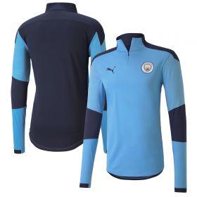 Manchester City 1/4 Zip Top - Sky Blue