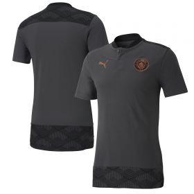 Manchester City Casuals Polo - Dark Grey