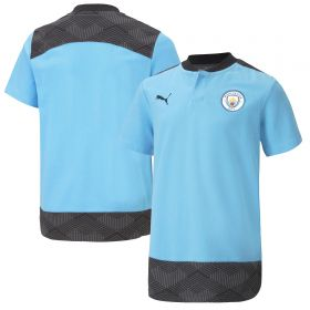 Manchester City Casuals Polo - Sky Blue - Kids
