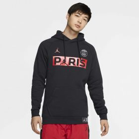 Paris Saint-Germain x Jordan Jumpman Fleece Pullover - Black