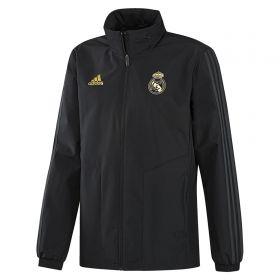 Real Madrid All Weather Training Jacket - Black