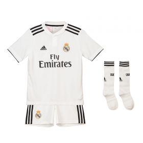 Real Madrid Home Kids Kit 2018-19 with M. Llorente 18 printing