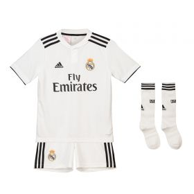 Real Madrid Home Kids Kit 2018-19 with Marcelo 12 printing