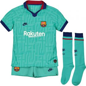 Barcelona Third Stadium Kit 2019-20 - Little Kids