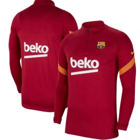 Barcelona Strike Drill Top - Dark Red