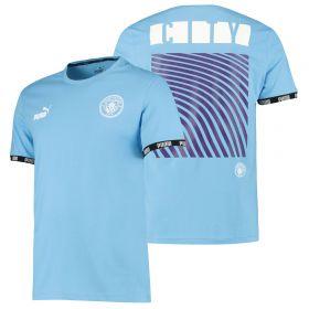 Manchester City Culture T-Shirt - Light Blue