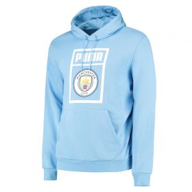 Manchester City Shoe Tag Hoody - Light Blue
