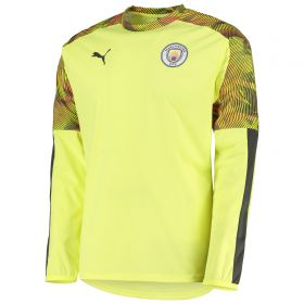 Manchester City UCL Training Rain Top - Yellow