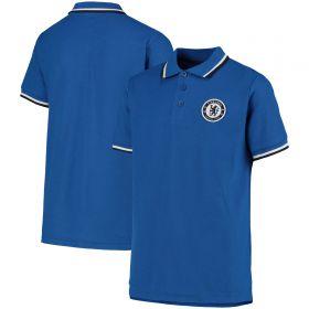 Chelsea Tipped Polo Shirt - Blue - Boys