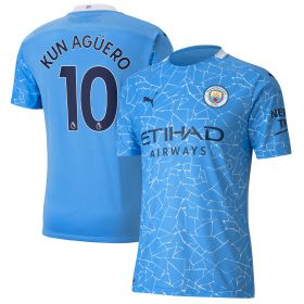 Manchester City Authentic Home Shirt 2020-21 with Kun Agüero 10 printing